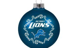 Detroit Lions Christmas Tree Ornaments