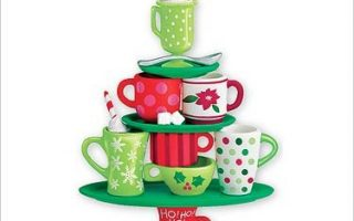 Coffee Cup Christmas Tree Ornaments