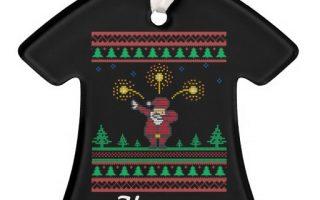Dabbing Ugly Xmas Sweater Christmas Tree Ornaments