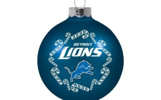 Detroit Lions Christmas Tree Ornaments