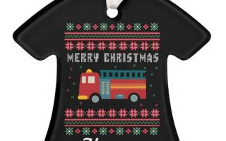 Vehicles Ugly Sweater Christmas Tree Ornaments